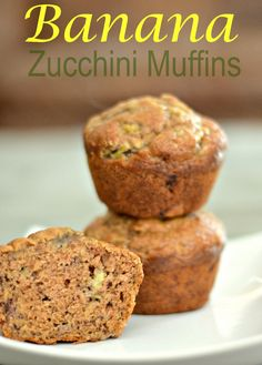 The bananas and zucchini are what makes these muffins so moist without using a lot of oil and eggs. Only 1/4 cup of oil and 1/2 cup sugar in the whole batch. These are truly the BEST muffins I've made!