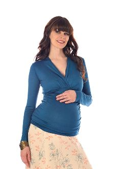 Lilac Maternity Megan Top- Teal or White    Price : $45.00  https://www.elmbaby.com/product_detail.php?pid=187=2_cid=6_cid=