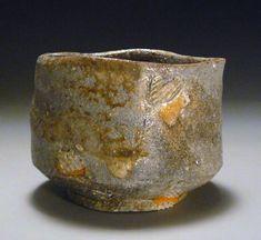 Judith Duff Pottery, Wood Fired and Shino Ceramics, Chawans - Natural Ash on Shigaraki Style Clay