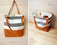 Tote bag - horizontal tricolor