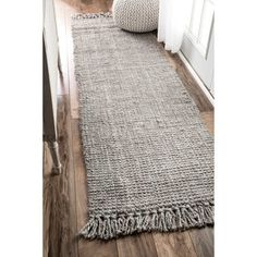 nuLOOM Handmade Eco Natural Fiber Chunky Loop Jute Grey Runner Rug 6 x - 18406723 - Overstock - Great Deals on Nuloom Runner Rugs - Mobile Gray Runner Rug, Carpet Runner, Runner Rugs, Jute Carpet, Grey Carpet, Plush Carpet, Up House, Rugs Usa, Grey Rugs