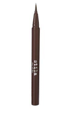 Stila's Stay All Day Waterproof Liquid Eye Liner in Dark Brown. If only it wasn't $20
