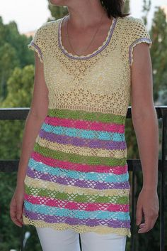 crochet tunic   --  Beautiful!!  Wish I could still crochet, i'd make one of these.  I sew instead.