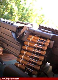 Cigarmunition one way to blow some smoke Good Cigars, Cigars And Whiskey, Cigar Art, Premium Cigars, Pipes And Cigars, Cuban Cigars, Up In Smoke, Cigar Smoking, Smoking Pipes
