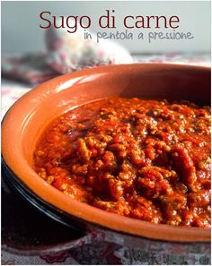 Vivi in cucina: Sugo di carne in pentola a pressione