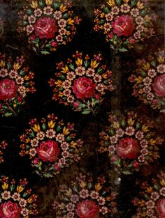 Traditional Czech flower pattern that's inspiring some of my Christmas card designs…