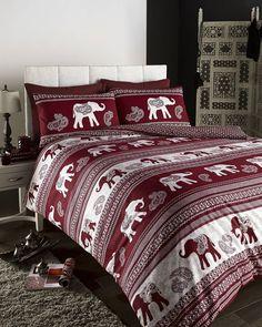 Empire Indian Elephant Animal Single Bed Duvet Quilt Cover Bedding Set Wine for sale Bed Sets, Duvet Sets, Duvet Cover Sets, Pillow Covers, Elephant Duvet Cover, Elephant Bedding, Elephant Room, Elephant Home Decor, King Duvet Set