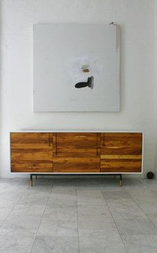 Lake Credenza by BDDW - contemporary - buffets and sideboards - DDDW--like the two tone look, although don't love the actual wood here)