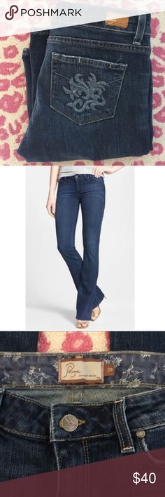 "Paige jeans - 29 Paige denim Hollywood Hills jeans. Bootleg fit. Rise is 8"" and inseam is 33.5"" Paige Jeans Jeans"