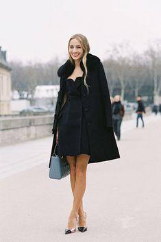 feminine, all black