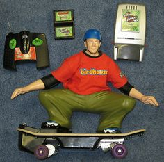 Tyco RC Tony Hawk Skateboard Tony Hawk Skateboard, Retro Toys, Radio Control, My Children, Nostalgia, Childhood, Skateboards, Rock, My Boys