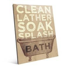 Bath Typography Graphic Art