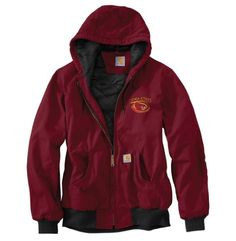 NCAA Iowa State Cyclones Men's Ripstop Active Jacket, Dark Red, X-Large Tall Carhartt ++You can get best price to buy this with big discount just for you.++
