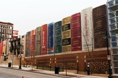 Kansas City Public Library. It looks quite funny, because it is in the shape of the books.