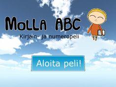 Molla ABC | NordicEdu ●Molla ABC, esiopetusikäisille suunnattu suomenkielinen opetuspeli tekstauskirjainten ja numeroiden piirtämisen harjoitteluun. - pienet ja isot alkukirjaimet A-Ö ja numerot 1-9 - peli ohjeistaa merkkien oikeaoppisen piirtosuunnan - peli tukee oppijan käsialan kehittymistä opetustilanteessa käytännöllinen