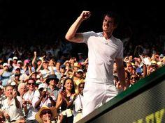 Andy Murray wins Wimbledon final, 7 July 2013.