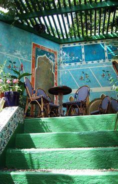 tea at La Grande Mosquee de Paris. 2 bis place du puits de l'ermite. 5eme