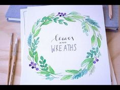 Flower Wreath Watercolor Painting _ 꽃리스 수채화 그리기 (에코라인 수채잉크 Ecoline Liquid Watercolor) - YouTube
