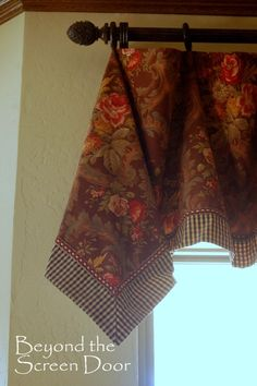 3 Easy-To-Make Handkerchief Style Valances plus tutorial | Beyond the Screen Door