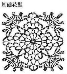 chart crochet motif pattern
