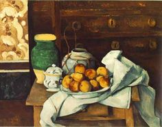 Still life With Commode - Paul Cezanne canvasreplicas.com