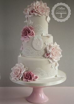 Mocha Vintage Romance Cake by Cotton and Crumbs @ http://www.cottonandcrumbs.co.uk/?p=22