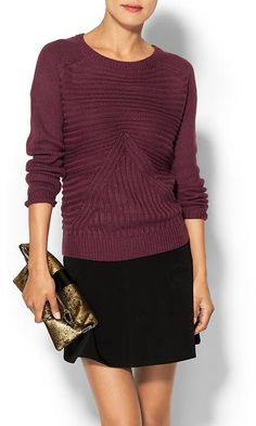 Love the après-ski chunky sweater but still classic - would love to see something with a patter detail at least.
