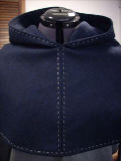 Wool Viking Hood by HeddlesandTreadles on Etsy