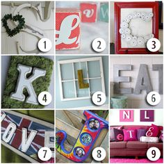Decorating your home with letters and monograms is a fun way to add some whimsy or character to a plain space.
