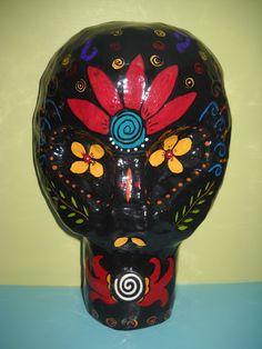 Day of the Dead Paper Mache Decorative Masks (Mexican Folk Art). via Etsy.