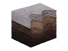 Ciredz - Sample, 2016, concrete, soil and graphite, 53x53 cm