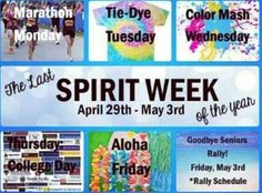 My school really needs more spirit!!! Having another spirit week maybe before prom or something....