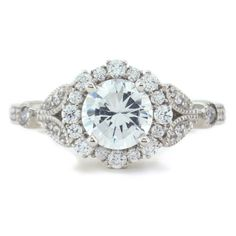 Floral Style Engagement Ring Diamond Setting by SerenadeDiamonds