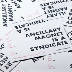 Ancillary Magnet Brand Identity & Business Card by Groundwave Design Corp , via Behance