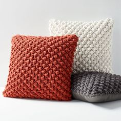 Knitting Patterns Pillow Our Bobble Knit Pillow adds texture and warmth to your space. Supersoft to the touch, you'll want …Our Bobble Knit Pillow provides texture and heat to your area. Supersoft to the contact, you'll wish to cozy up with thi Knit Pillow, Pillow Fabric, Sewing Pillows, Cushion Fabric, Diy Pillows, Decorative Pillows, Throw Pillows, Knitted Cushion Covers, Knitted Cushions