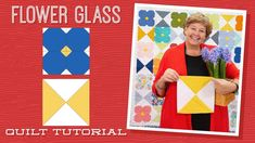 Make a Flower Glass Quilt with Jenny Doan of Missouri Star (Video Tutorial) Missouri Quilt Tutorials, Quilting Tutorials, Quilting Projects, Msqc Tutorials, Quilting Tips, Machine Quilting, Star Quilts, Easy Quilts, Quilt Blocks