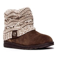 MUK LUKS® Patti Cable Knit Cuff Womens Short Boots found at @JCPenney
