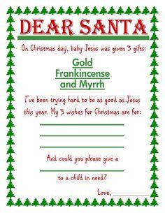 religious letter from santa christmas time pinterest letter