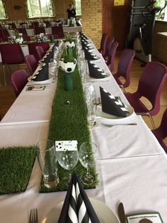 Soccer Banquet, Spaghetti Dinner, Napkin Folding, Grad Parties, Tablescapes, Gift Wrapping, Baby Shower, Table Decorations, Sport