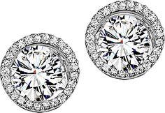 f68d3c7dc1 14K White Gold Diamond Earring Jacket Diamond Earring Jackets