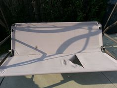 Garden Swing Replace Ripped Canvas With Lawn Furniture Re 400 x 300