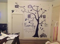 I'm researching and doing a family tree.Come to find out, my grandfather got married at 29 to my grandmother who was they got married out of state by the justice of the peace. Family Tree Wall, Tree Wall Art, Tree Art, Family Trees, Family Room, Photo Tree, Funny Art, Diy Projects To Try, Family History