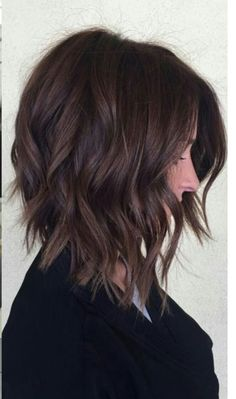 Dark Color Trendy Medium Length Haircuts With Layers ? Stylish Medium Length Layered Haircuts That Will Blow Your Mind! : Dark Color Trendy Medium Length Haircuts With Layers ? Stylish Medium Length Layered Haircuts That Will Blow Your Mind! Inverted Bob Haircuts, Medium Bob Hairstyles, Stylish Hairstyles, Layered Hairstyles, Ladies Hairstyles, Short Haircuts, Hairstyles 2016, Afro Hairstyles, Natural Hairstyles
