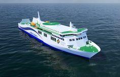 FÆRGEUDBUD: Rauma Marine Constructions skal levere den ro/pax-færge, Mols-Linien ifølge den netop indgåede kontrakt med staten skal indsætte mellem Rønne og Køge.