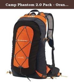 Camp Phantom 2.0 Pack - Orange/Black. The Phantom 2.0 builds on the genius conception of the best-selling Phantom pack which became an instant hit for hyperlight, intense excursions like peak bagging, trail running and long alpine rock routes. Updates for 2014 include a new front compartment, side mesh pockets, accessory mesh pockets on the waist belt and shoulder straps, new light and strong fabrics, and new materials for the shoulder straps and back panel to increase breathability and...