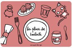 Set de table Place de louloute - Rose - Derrière la Porte - DLP - Accessoire cuisine et rangement/Set de table original - espritlogis-fr