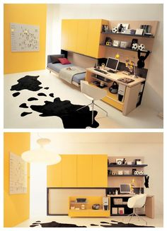 Yellow Cream Gray Lovely Teen Bedroom Designs could be established cool and awesome for your Interior Design #Teens #Bedroom