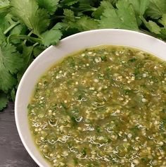 Perfect Salsa Verde (Mexican Green Sauce) - Beginner's Guide to Mexican Food, Part III: Salsa Verde (Green Sauce) - Verde Sauce, Salsa Verde Recipe, Tomatillo Salsa Verde, Tomatillo Sauce, Mexican Salsa Verde, Mexican Food Recipes, Healthy Recipes, Green Salsa Recipes, Sauces