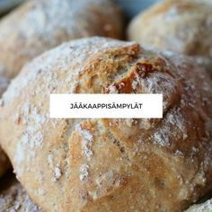 Jääkaappisämpylät I Love Food, Good Food, Yummy Food, Savoury Baking, Bread Baking, No Salt Recipes, Sweet And Salty, Food Inspiration, Food And Drink