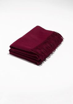 & Other Stories image 1 of Oversized Wool Scarf in Burgundy Burgundy Scarf, Burgundy Color, Beach Ready, Wool Scarf, Signature Style, Colorful Fashion, Scarf Styles, Autumn Fashion, Burgundy Fashion